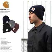 FOCA ☆ Carhartt A18 Acrylic Watch Hat 反搭針織帽毛帽黑 深 89a40ba3b5cd
