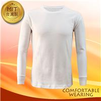 【COMFORTABLE WEARING】MIT-蓄熱保暖衣-白