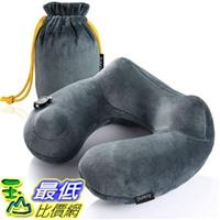 [7美國直購] 航空坐飛機用頸枕睡枕枕頭 Purefly 5955856Soft Velvet Inflatable Travel Neck Pillow