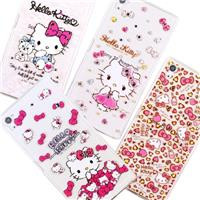 【Hello Kitty】Sony Xperia Z5 Premium (5.5吋) 彩鑽透明保護軟套