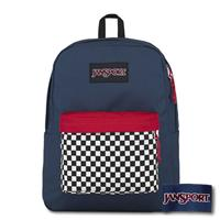 【JANSPORT】BLACK SUPERBREAK系列後背包 -棋盤格藍(JS-43520)