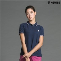 K-Swiss Striped Detail Polo短袖POLO衫-女