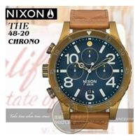 NIXON 實體店The 48-20 CHRONO LEATHER腕錶A363-2731
