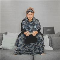 KID ® GB-Camo Hooded Poncho / KID 灰藍迷彩連帽斗篷