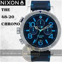 NIXON 實體店The 48-20 CHRONO LEATHER腕錶A363-2219