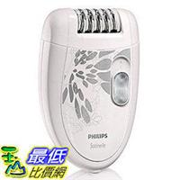 [美國直購]Philips 插電式 美體刀HP6401 Satinelle Epilator, White/Gray