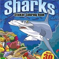 Let's Explore! Sharks Sticker Coloring Book: with 30 Stickers! (Dover Design Coloring Books